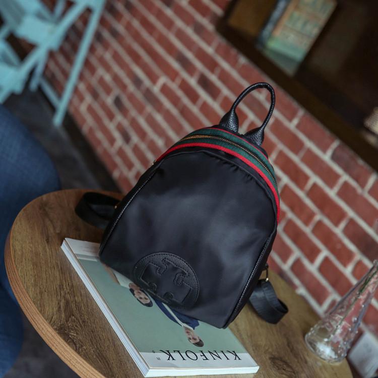 Рюкзак с молнией декорирован лентой- 207-18