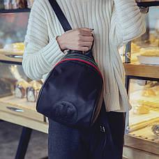 Рюкзак з блискавкою декорований стрічкою - 207-18, фото 3