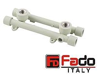 Колено PPR 20*1/2 ВР монтажное на двойной планке полипропиленовое FADO Италия