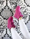 Зимние ботинки Timberland 6 inch purple на меху (Реплика ААА+), фото 8