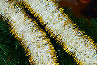 Дождик (мишура) новогодний двойная набивка, d-10 см (длина 2 м)