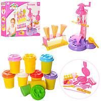 Пластилин MK 1225 8 цветов (баночка с крышкой), мороженое, аппарат-пресс, формочки, инструменты
