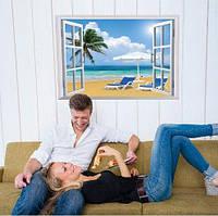 Наклейка на стену декоративная Берег океана
