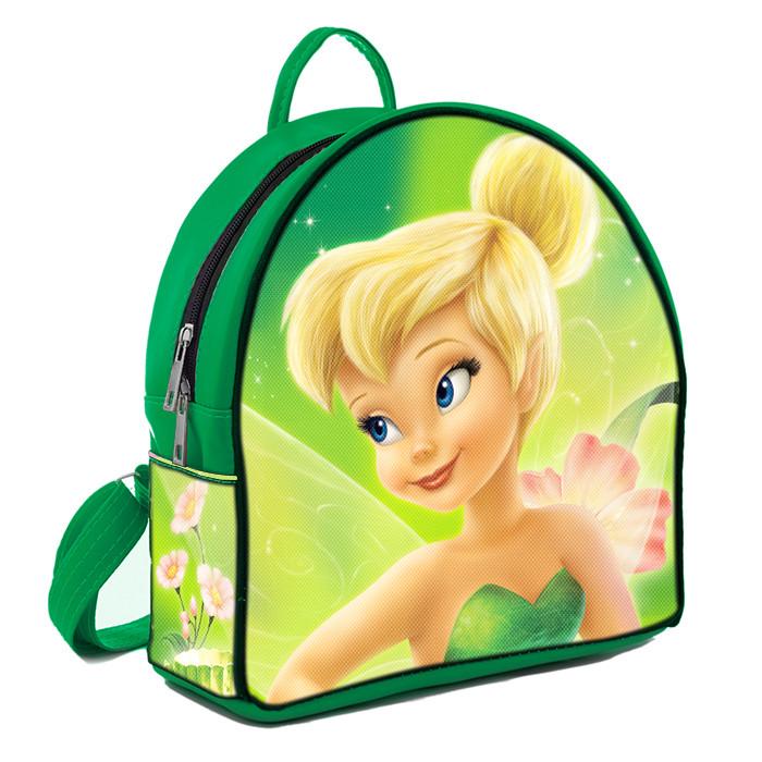 Зеленый городской рюкзак с принтом Фея Динь динь