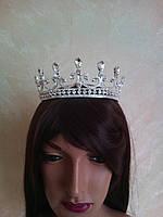 Корона для конкурса, диадема, тиара, высота 5,5 см.