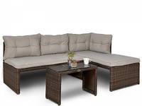 Кутовий плетений диван  CANVAS  BRAUN 180Х123 см