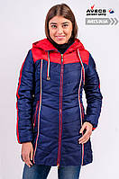 Женская зимняя куртка на тинсулейте Avecs 148 Blue для холодных зим недорого | Avecs куртка размер