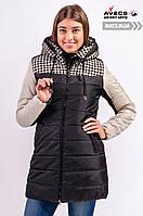 Женская зимняя куртка Avecs 569 Black наполнитель тинсулейт холодная зима недорого | Avecs куртка размер