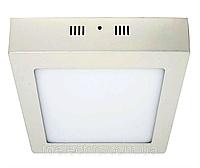 Светильник светодиодный квадрат, накладной,  18W,  4000К нейтральный