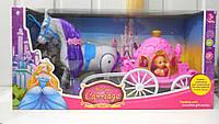 Кукла с каретой и лошадкой (2 вида) 689-714