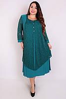 Платье большого размера Нимфа (3 цвета), нарядное платье большого размера