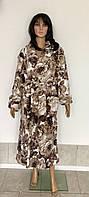Женский махровый халат большого размера 52-58 р, махровые халаты батал оптом от производителя