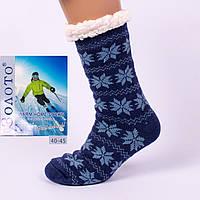 Тёплые домашние носки с тормозами Золото HD3003-4