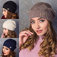Женская вязанная шапка (много цветов)