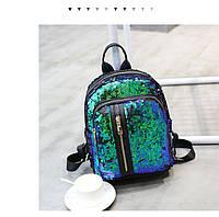 Рюкзак с пайетками, карманы на молнии- 207-171