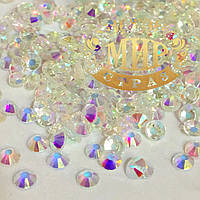 Стразы DMC Premium Unfoiled, цвет Crystal AB ss16 (4мм), 100шт.