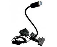 Настольная лампа Lemanso 1W 1LED 6500K прищепка