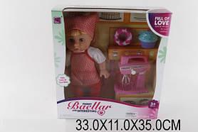 Кукла 10599 (1325768) в костюме повара, миксер,пирожные