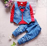 Костюм тройка для мальчика реглан жилетка штаны