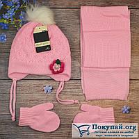 Набор зимний Шапка и варежки для малыша Размер: 1- 2 года (5807-5)