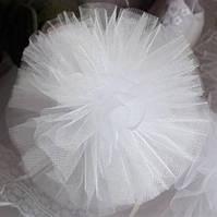 Банты школьные белые для девочек школьниц, цена за пару.Din-01d