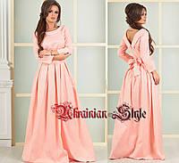 Красивое вечернее платье в пол с бантом. 4 цвета!, фото 1
