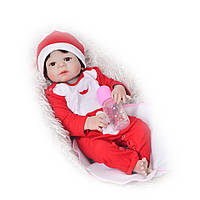 Кукла реборн девочка Новогодняя! Полностью силиконовая