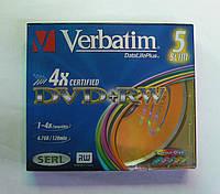 Диски VERBATIM DVD+RW 4.7Gb  slim 5pcs