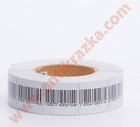 Радиочастотные противокражные этикетки штрих-код 4х4 см
