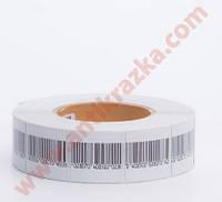 Защитные антикражные этикетки 4х4 штрих код