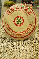 """Блин Шу Пуэра CNNP 2007 года 357 г """"Зеленая Марка""""(китайский прессованный чай, Shu Puerh beeng cha), фото 1"""