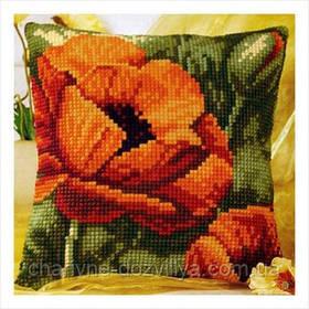 Подушка для вышивки Красный мак