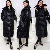 Куртка женская длинная дутая холлофайбер СП