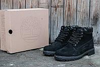 Зимние мужские ботинки Timberland Classic 6 inch Black Winter (Тимберленд) с мехом
