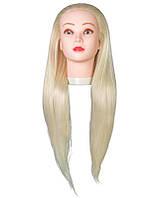 Голова учебная термо. Волосы 70 см. Блондин.