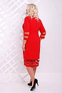 Женское батальное платье Хилари цвет красный / размер 50-60, фото 2