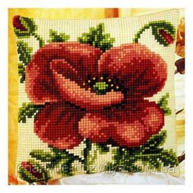 Подушка для вышивки Мак