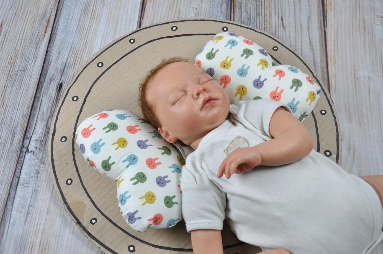 """Детская подушка для новорожденных """"Butterfly"""", зайки"""