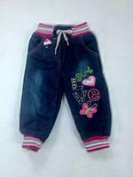 Джинсовые штаны на флиси для девочки  Aynur baby Турция