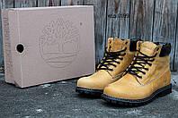 Зимние мужские ботинки Timberland Classic 6 inch Yellow Winter (Тимберленд) с мехом