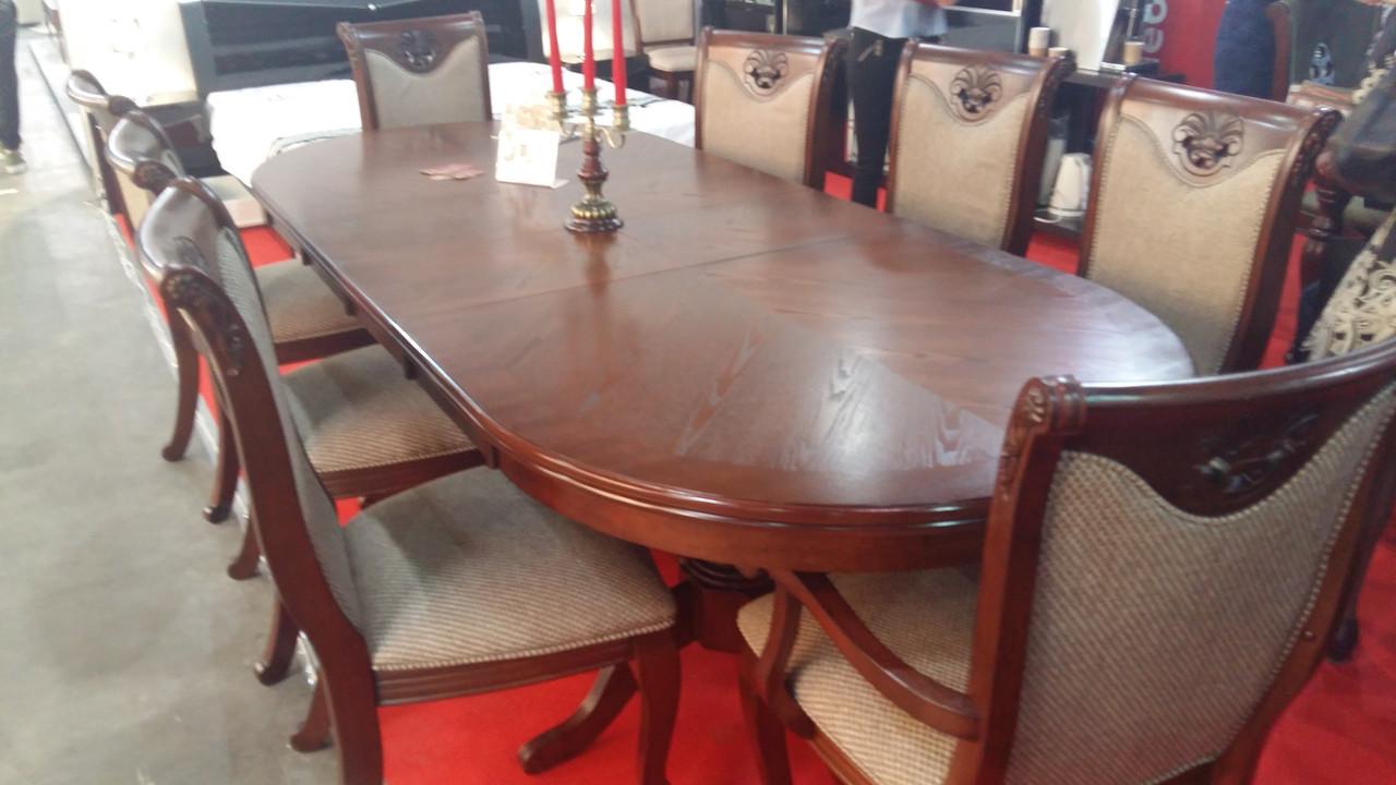 Большой обеденный стол Братислава Sof, цвет орех