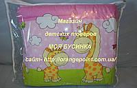 Защита, бортики, бампер в кроватку детскую-Жирафы