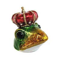 Наперсток сувенирный декоративный Лягушка с короной