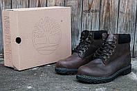 Зимние мужские ботинки Timberland Classic 6 inch Grey Winter (Тимберленд) с мехом