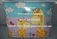 Защита, бортики, бампер в кроватку детскую-Жирафы Животные принты, Фиолетовый