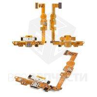 Шлейф для мобильного телефона LG E460 Optimus L5, коннектора зарядки, с микрофоном, с компонентами
