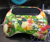 Сенсорная УФ CCFL + LED лампа для сушки ногтей на 48W принт цветы
