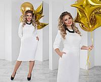 Платье женское белое (5 цветов) ТК/-01093