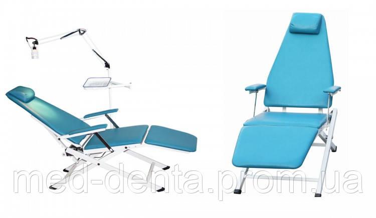 Портативное стоматологическое кресло Granum-109A (со светильником и лотком для инструментария) NaviStom