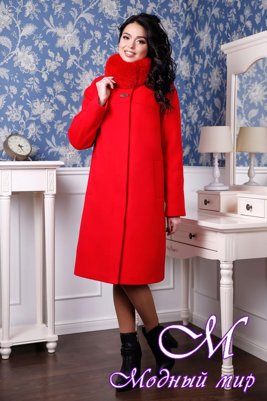 Кашемировое женское зимнее пальто с мехом (р. 44-58) арт. 990 Тон 6 ... e68ffaa39cf44